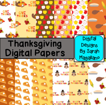 Thanksgiving Digital Papers