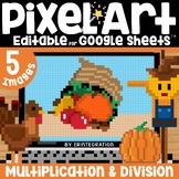 Thanksgiving Digital Pixel Art Magic Reveal MULTIPLICATION