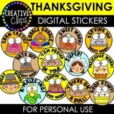 Thanksgiving Digital Stickers: Thanksgiving Stickers