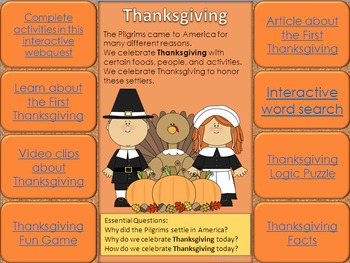 Thanksgiving Interactive Review Activities