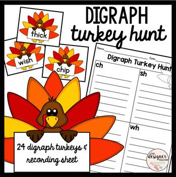 Thanksgiving Digraph Turkey Hunt Sort