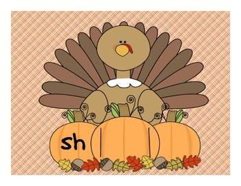 Thanksgiving Turkey Digraph Word Slides