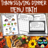 Thanksgiving Dinner Math and Multi Step Word Problems 4.OA.3