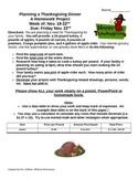 Thanksgiving Dinner:  3rd-5th Grade Math Performance Task