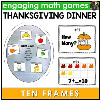 Thanksgiving Ten Frames Game