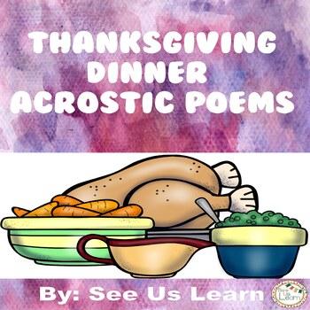 Thanksgiving Dinner Acrostic Poems