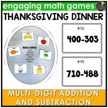 Thanksgiving Multi-Digit Addition and Subtraction Game
