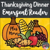 An Emergent Reader Plus More Thanksgiving Dinner
