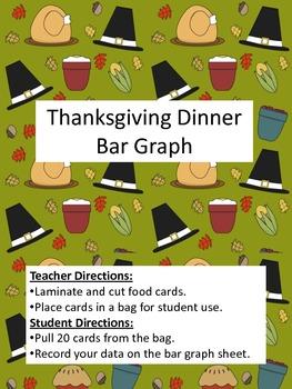 Thanksgiving Dinner Bar Graph Center