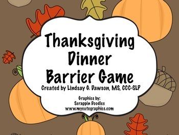 Thanksgiving Dinner Barrier Game