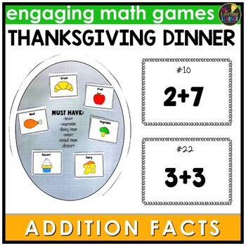 Thanksgiving Addition Facts Game