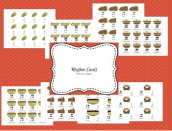 Music Thanksgiving Beat Strips & Composition Cards for Rhythm Practice
