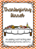 Thanksgiving Dinner Budget Activity