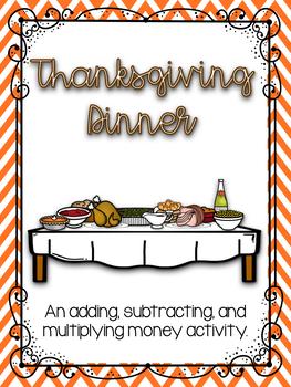 Thanksgiving Dinner Budget Activity