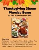 Thanksgiving Dinner Phonics Game (CVC, Digraphs, Initial & Final Blends)