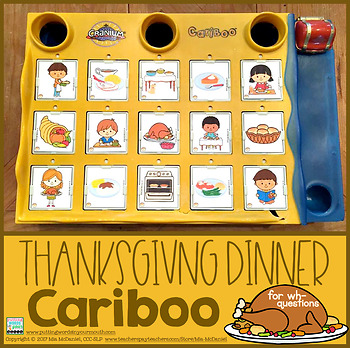 Cariboo Thanksgiving Dinner {for WH- questions and language therapy}
