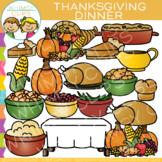 Dinner Foods for Thanksgiving Clip Art