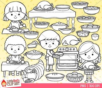 Thanksgiving Food Clip Art