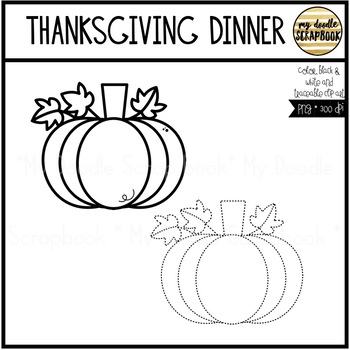 Thanksgiving Dinner (Clip Art for Personal & Commercial Use)