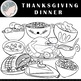 Thanksgiving Dinner Clipart - Thanksgiving Clipart - Food Clipart