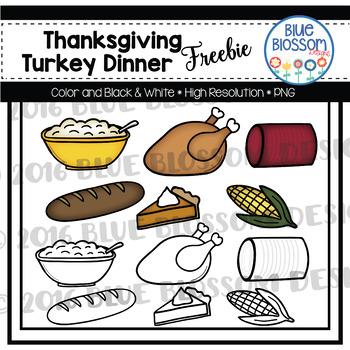 Free thanksgiving dinner. Clipart freebie