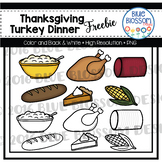 Thanksgiving Dinner Clipart Freebie
