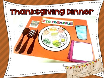 Thanksgiving Dinner Craftivity and Writing Center