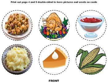 Thanksgiving Dinner Dice Game