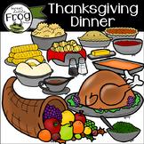 Thanksgiving Dinner Food Clip Art