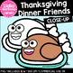 Thanksgiving Dinner Friends Clipart {Lidia Barbosa Clipart}