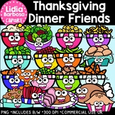 Thanksgiving Dinner Friends Clipart {Lidia Barbosa Clipart}