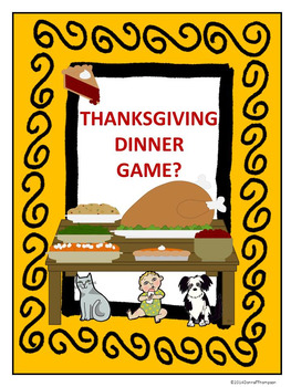 Thanksgiving Dinner Game: Task Cards (Multiplication and D