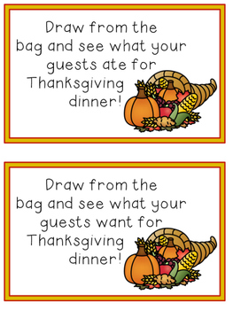 Thanksgiving Dinner Graph