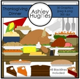 Thanksgiving Dinner Clipart {A Hughes Design}