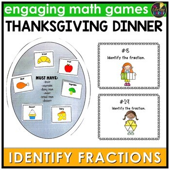 Thanksgiving Identify the Fraction Game