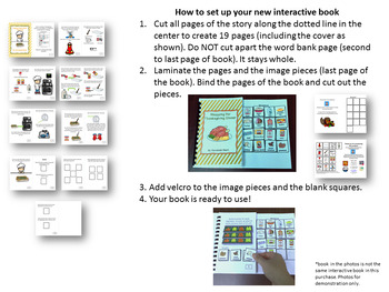 Thanksgiving Dinner Interactive Book **BUNDLE** with FREE visual recipes