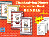 Thanksgiving Dinner Interactive Book **BUNDLE** with FREE
