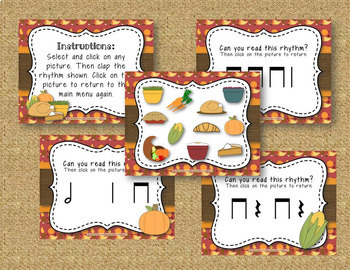 Thanksgiving Dinner! Interactive Rhythm Game - 6 ITEM BUNDLE!