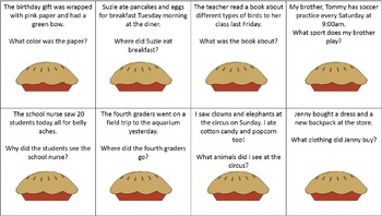 Thanksgiving Dinner Language Pack: Auditory comp / Antonyms / Multiple Meaning