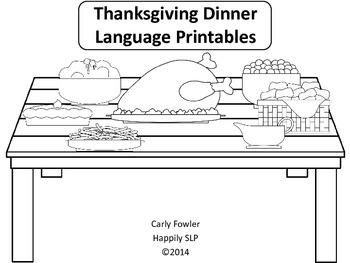 Thanksgiving Dinner Language Printables