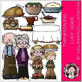 Thanksgiving Dinner clip art - Lucy Doris - COMBO PACK- by Melonheadz