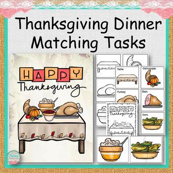 Thanksgiving Dinner Matching Tasks