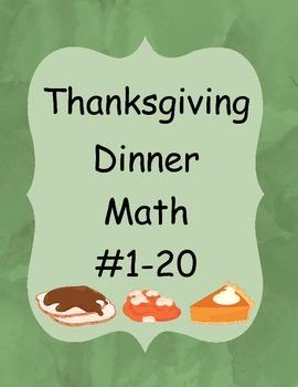 Thanksgiving Dinner Math #1-20