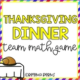 Thanksgiving Dinner Math Games