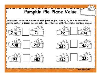 Thanksgiving Dinner Math Practice