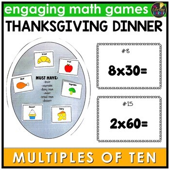 Thanksgiving Multiples of Ten Game