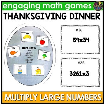 Thanksgiving Multiplying Large Numbers Game