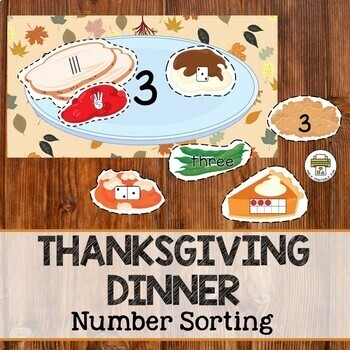Thanksgiving Dinner-Number sorting activity