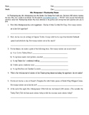 Thanksgiving Dinner Nutrition Worksheet