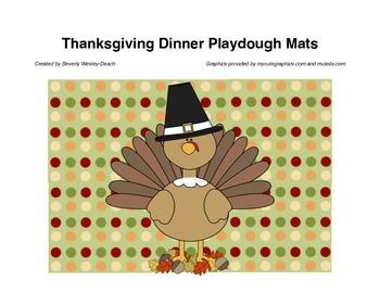 Thanksgiving Dinner Playdough Mats